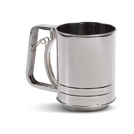 Tamiz de harina clásico de acero inoxidable (3 tazas ...