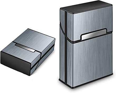 Caja de Cigarrillos portátil Elegante, Cigarette Case, aleación de Aluminio, Pitillera metálica, Caja para Proteger Cigarros, con la Cerradura magnética para 20 Cigarrillos, Mujer, Hombre: Amazon.es: Equipaje