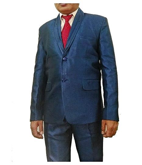 Mens Wedding Party 2 Pc Coat Suit With Pant Dark Blue Color Size 40