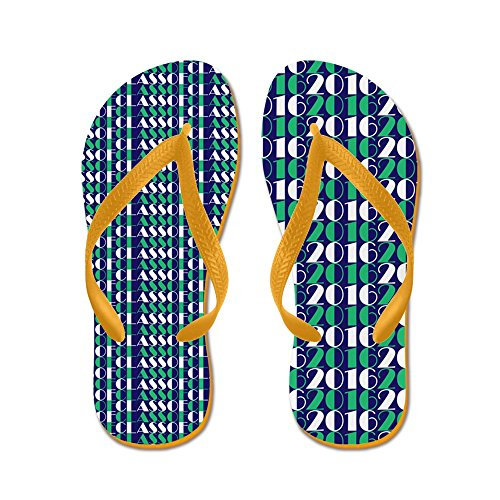 CafePress Class Of 2016 Stacked - Flip Flops, Funny Thong Sandals, Beach Sandals Orange