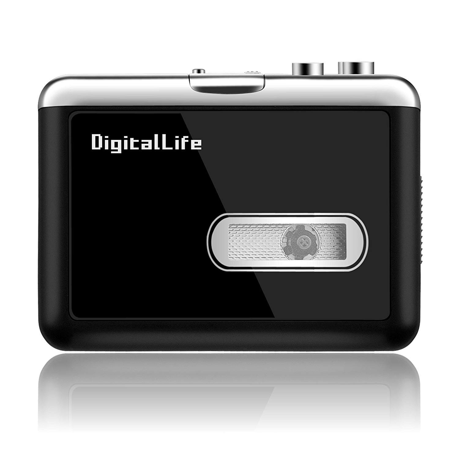DigitalLife Lecteur Cassette Audio - Walkman Cassette MP3 Enregistreur - Lecteur Cassette Audio Convertisseur - Convertisseur Cassette vers MP3, No Need PC
