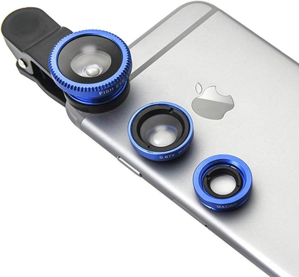 Sbezy Phone Camera Lens Macro Lens & Wide Angle Lens & Fisheye Lens Clip-On Cell Phone Camera Lens For Smartphone