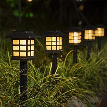 Paquete de 2-20 Lámparas LED para senderos solares Luces al aire libre Lámparas solares para jardines con césped para sendero de jardín Patio Pasarela de patio-Blanco cálido_10 piezas: Amazon.es: Iluminación