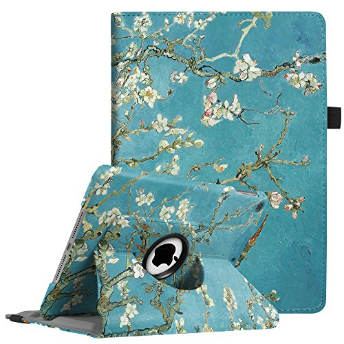 "Price comparison product image Fintie iPad 9.7 inch 2018 2017 / iPad Air Case - 360 Degree Rotating Stand Protective Cover with Auto Sleep Wake for Apple iPad 9.7"" (6th Gen,  5th Gen) / iPad Air 2013 Model,  Blossom"