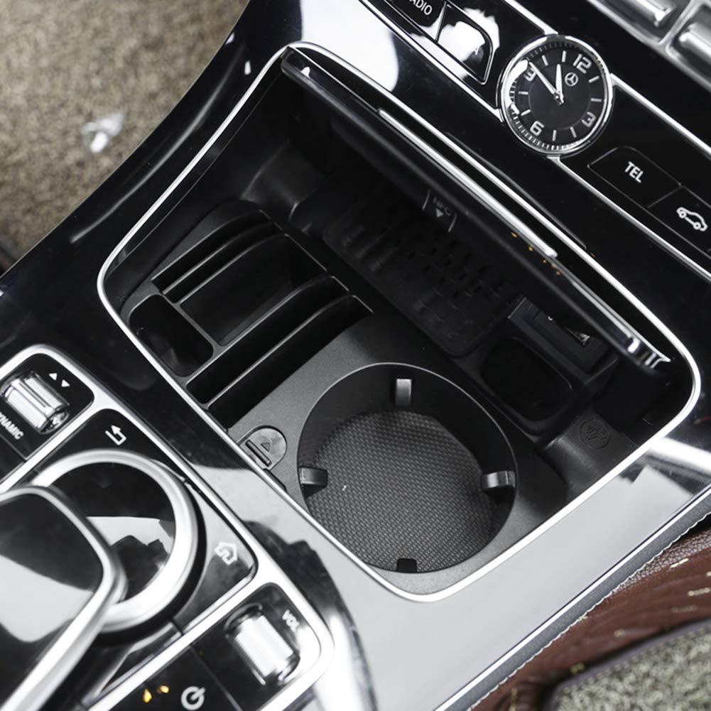 CLBEST para Mercedes Benz Clase C W205 Clase Glc X253 Clase E W213 Car-Styling Pl/ástico Consola Central Caja de Almacenamiento Portavasos