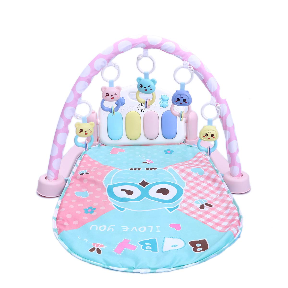 Con 100% de calidad y servicio de% 100. STOBOK Cartoon Baby Toddler Piano Gym Mat Fitness Manta Actividad Actividad Actividad Suave Estera de Juego Light Up Rattles Juguetes de Aprendizaje Musical (con Control Remoto versión/Rosa)  marcas en línea venta barata