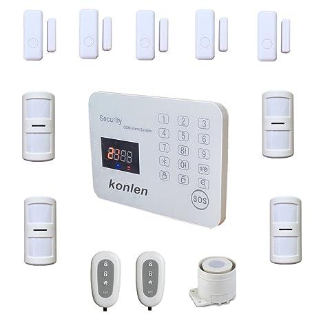 konlen 120 zona inalámbrica GSM Sistemas de alarma LCD voz casa de seguridad teclado táctil casa ...