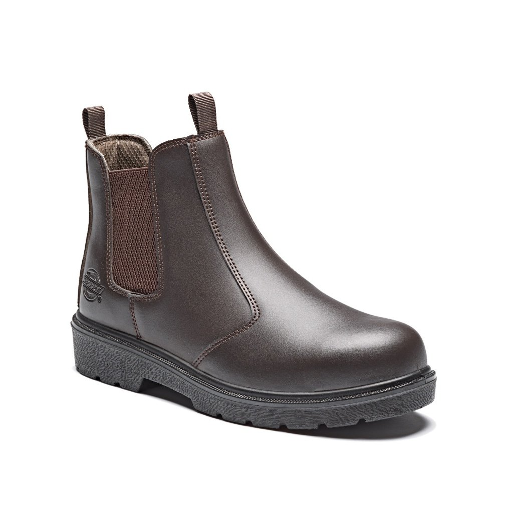 Dickies FA23345 BR 9 High S1-P Safety Dealer Boots Brown Size 43 FA23345 BR 9