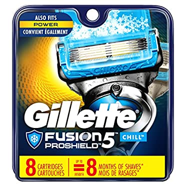 Gillette Fusion5 ProShield Chill Men's Razor Blade Refills, 8 Count
