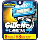 Gillette Fusion ProShield Chill Men's Razor Blade Refills, 8 Count, Mens Razors/Blades