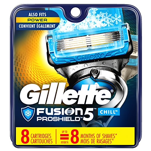 Price comparison product image Gillette Fusion5 ProShield Chill Men's Razor Blades, 8 Blade Refills