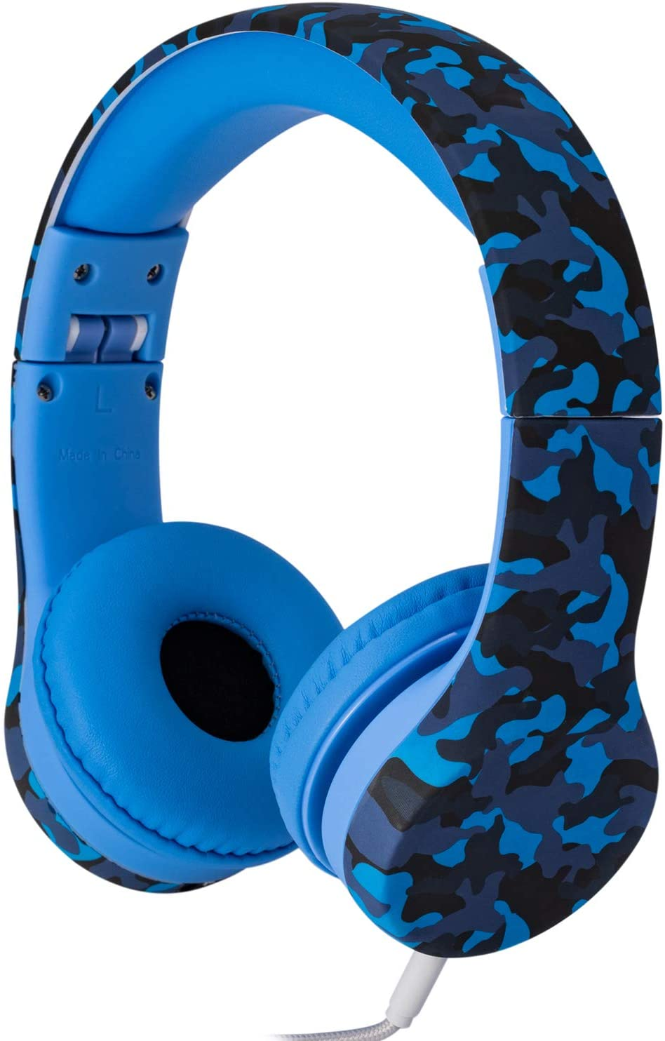Snug Play+ Kids Headphones Volume Limiting and Audio Sharing Port (Blue Camo)