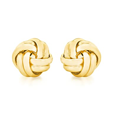 Carissima Gold 9 ct White Gold 6 mm Knot Stud Earrings XZTjp