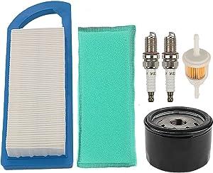 Powtol GY20573 Air Filter + AM125424 AM116304 Oil Fuel Filter fits JD LA115 LA105 LA110 LA100 L100 L105 L107 L108 115 105 108 Z225 Lawn Tractor