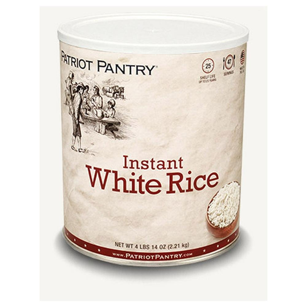 Patriot Pantry Instant White Rice (47 servings) #10 Can Bulk Emergency Storage Food Supply, Up to 25-Year Shelf Life