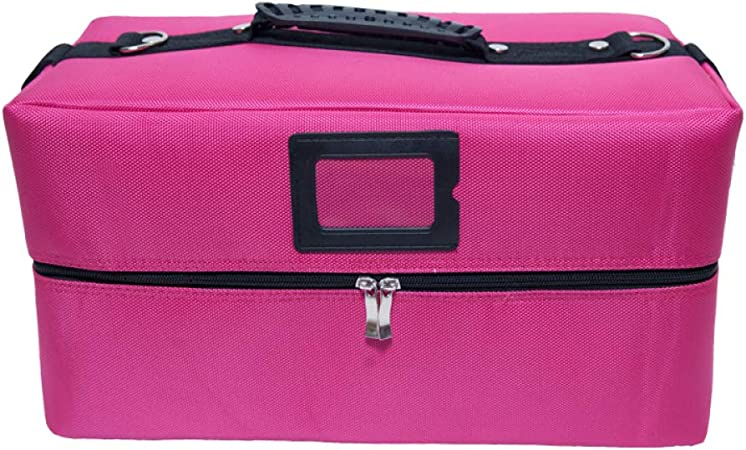 zyl Beauty Case Maletín para Maquillajes, Estuche para Cosméticos, Extensible, Portable,Pink-40cm*22cm: Amazon.es: Hogar