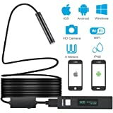 Inspection Camera,Wireless Endoscope Camera,2.0 Megapixels,8 Led light,IP68 Waterproof, Digital Wifi Borescope, Suitable for Android and IOS Smart Phone,Tablet,MAC,Windows(16.5ft)