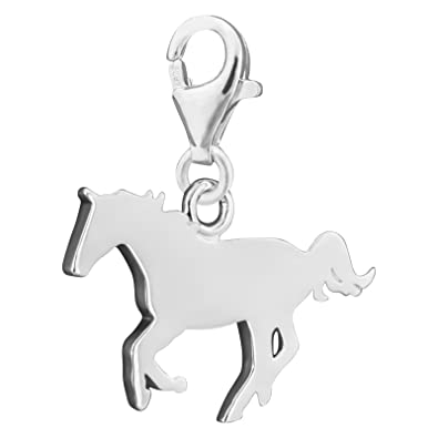 0c0c74aa7bb Thomas Sabo Women-Charm Pendant Horse Charm Club 925 Sterling silver  1106-001-12  Amazon.co.uk  Jewellery