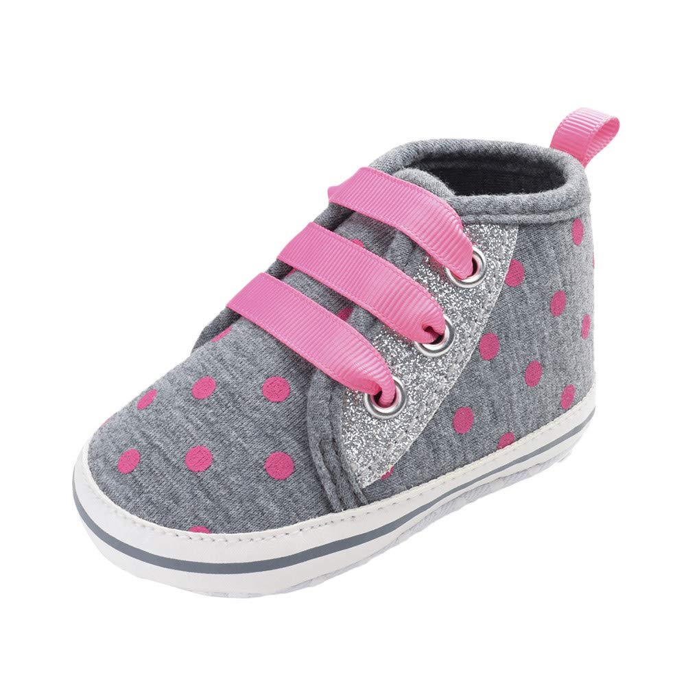 XUANOU Baby Girls Newborn Infant Baby Casual First Walker Toddler Soft Sole Shoes