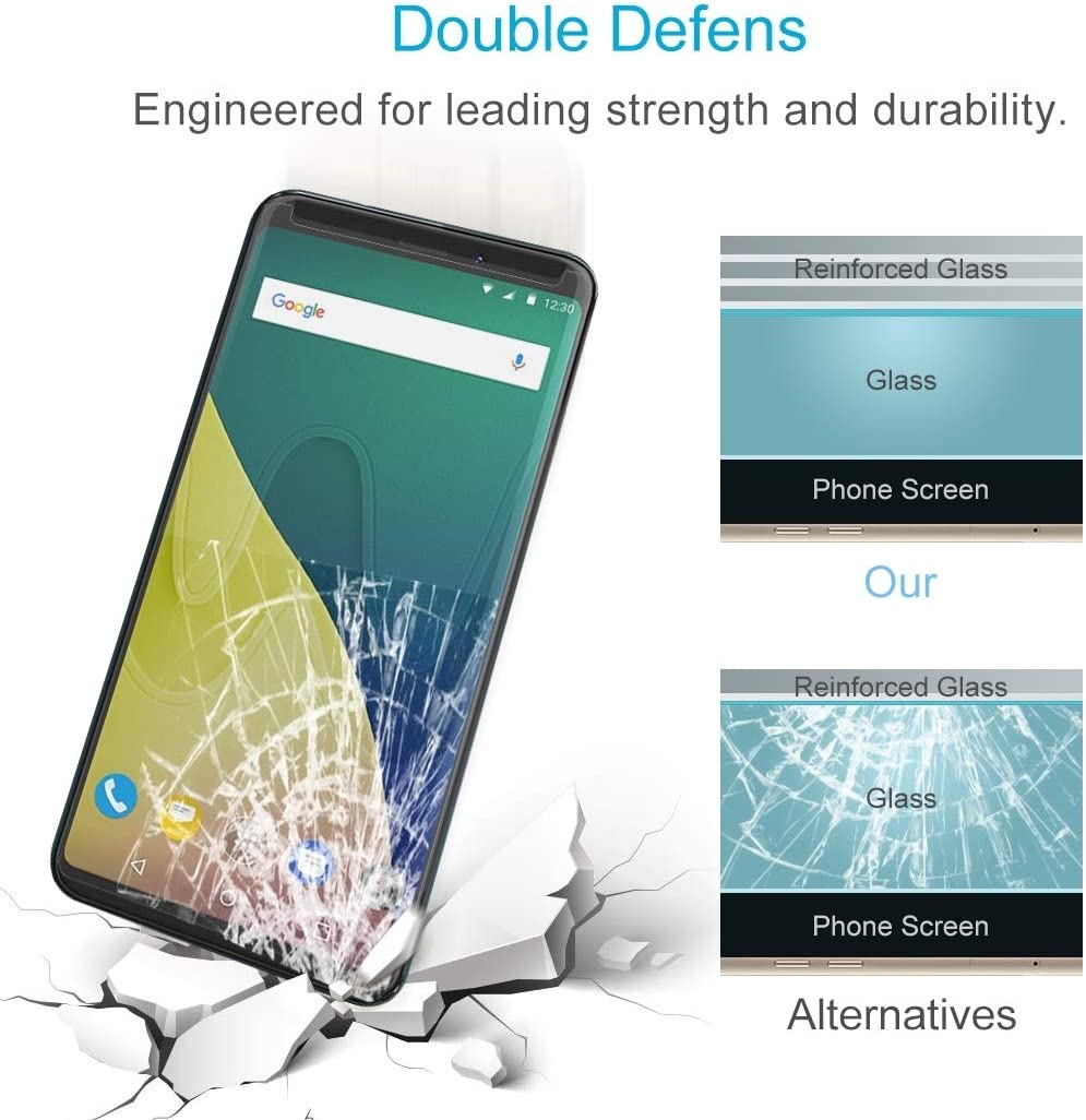 XHC Screen Protector Film 100 PCS for Wiko View XL 0.26mm 9H Surface Hardness 2.5D Curved Edge Tempered Glass Front Screen Protector Tempered Glass Film