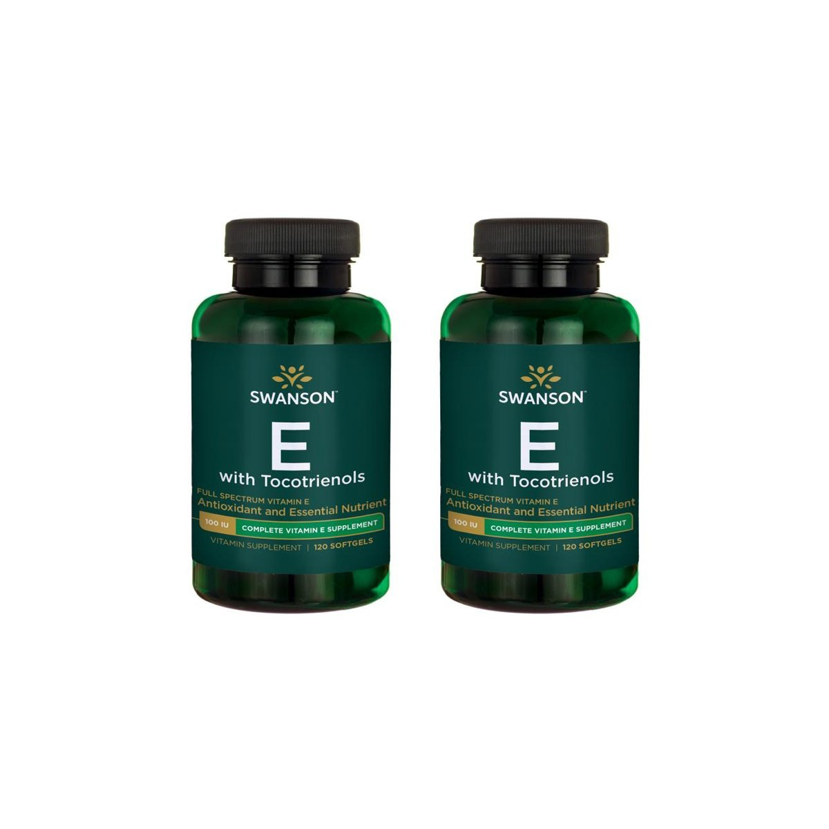Swanson Vitamin E with Tocotrienols - Full Spectrum 120 Sgels 2 Pack