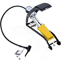 Diswa 160PSI Aluminum Body High Pressure Foot Air Floor Pump for Bicycles, Tire, Cars, Inflating Pools, Basketballs, Footballs and More (H 9cm x W 8.5cm x L 30cm)