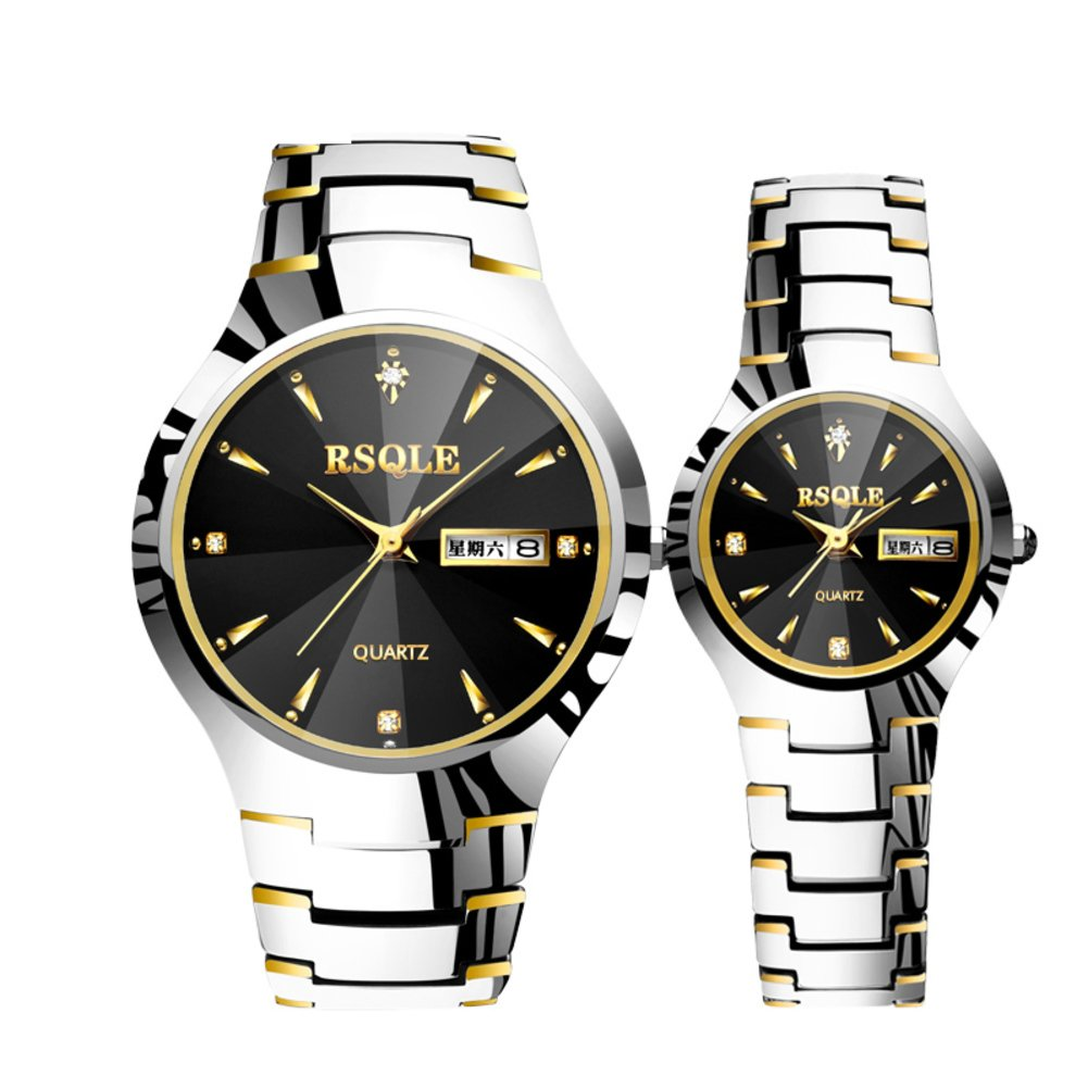 Men and Women Couple Watches /防水タングステンスチールWatches /ビジネスカジュアルwatches-a B06XCNB4D2