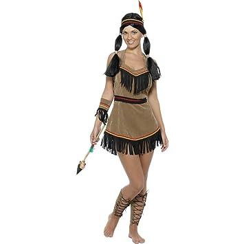 Costume Dindienne Pour Femme Brun Taille S 3638 Déguisement D