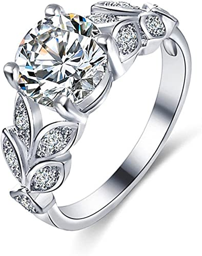 Amazon Com Oldsch001 Rings For Women Fashion 4 Prong Setting