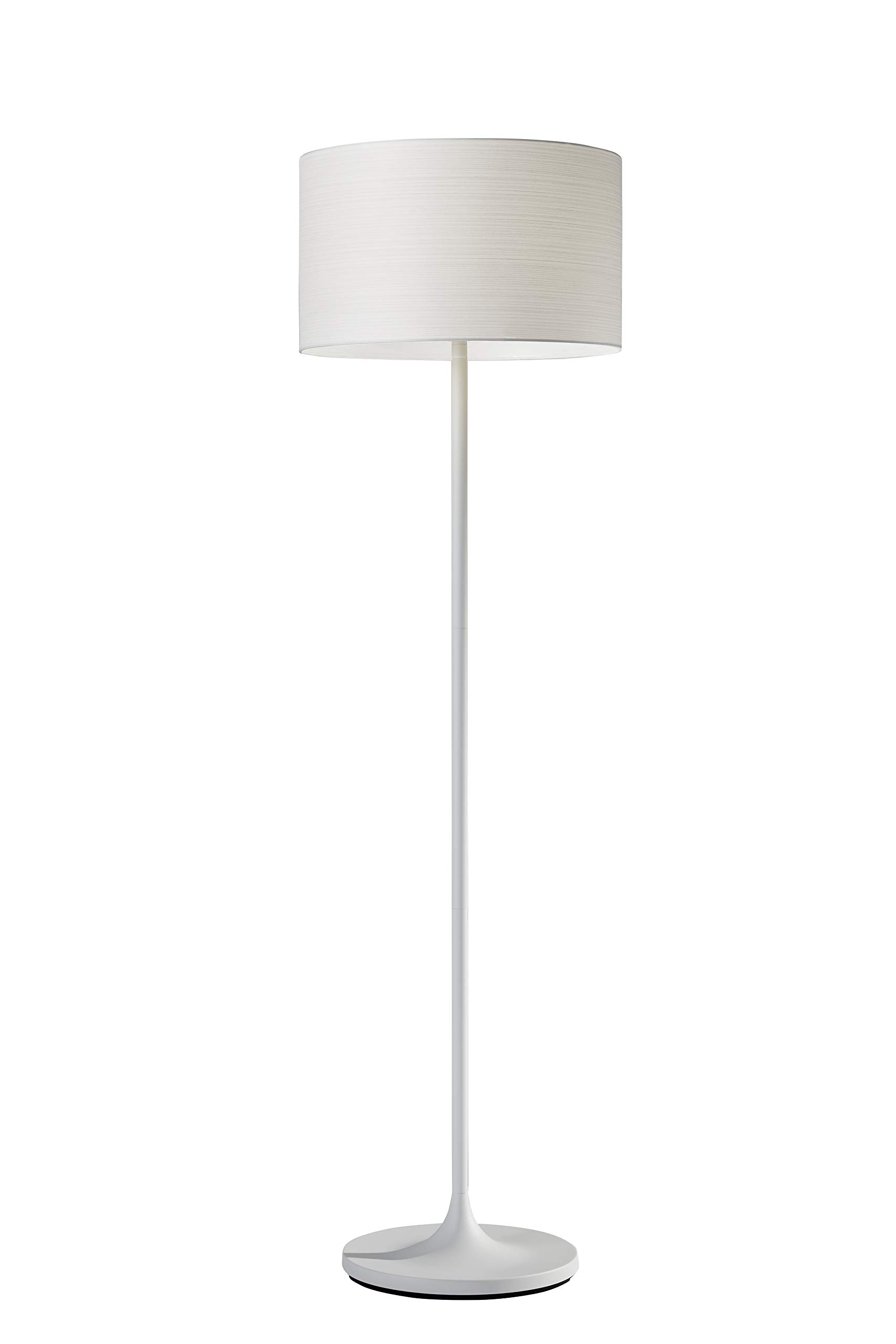 Adesso 6237-02 Oslo Floor Lamp - Corrosion Resistant, Scratch Proof, White Matte Finish Lighting Equipment with Metal Body. Tools & Home Improvement by Adesso
