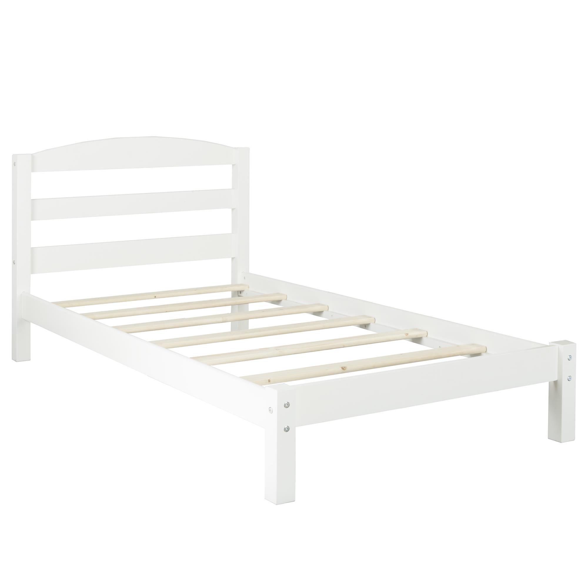 Dorel Living Braylon Twin Bed, White by Dorel Living