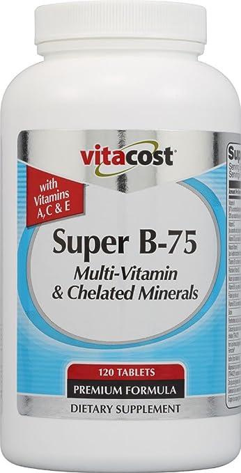 Amazon.com: Vitacost Super TheGiftSquad B-75 Multivitamínico ...