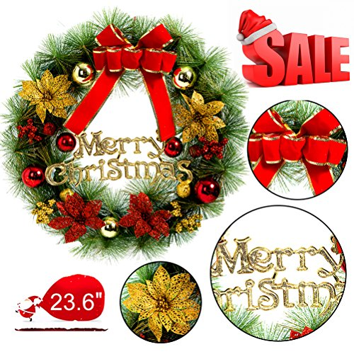 Outdoor Lighted Christmas Wreath Cordless - 3