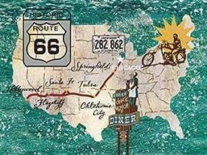 James Nocito – Retro Roadtrip II Artistica di Stampa (45,72 x 60,96 cm)