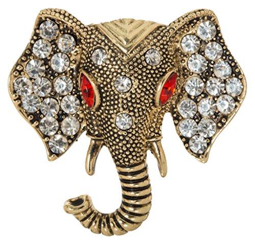 Lucky Elephant Head Brooch Pin 1.5