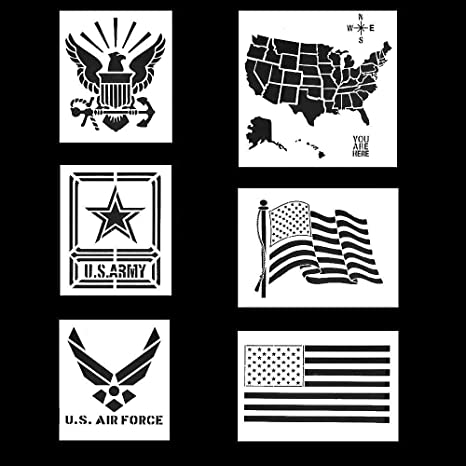 Flexible Plastic Stencil US Air Force Reusable