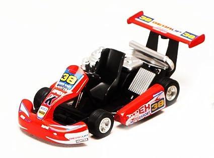 """Turbo Go Kart #38, Red - Kinsmart 5102D - 5"""" Diecast Model Toy"""