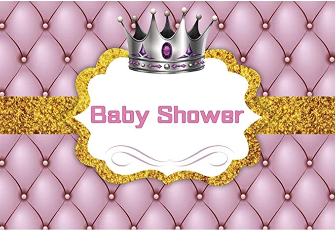 DORCEV 10x6.5ft A Little Princess is on The Way Backdrop for Girls Baby Shower Party Photography Background Green Leaves Flowers Gold Royal Crown Decor Banner Photo Studio Props