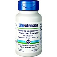 Life Extension Immune Senescence Formula Standardized Cistanche Reishi PU-ERH Tea, 60 Vegetarian Tablets