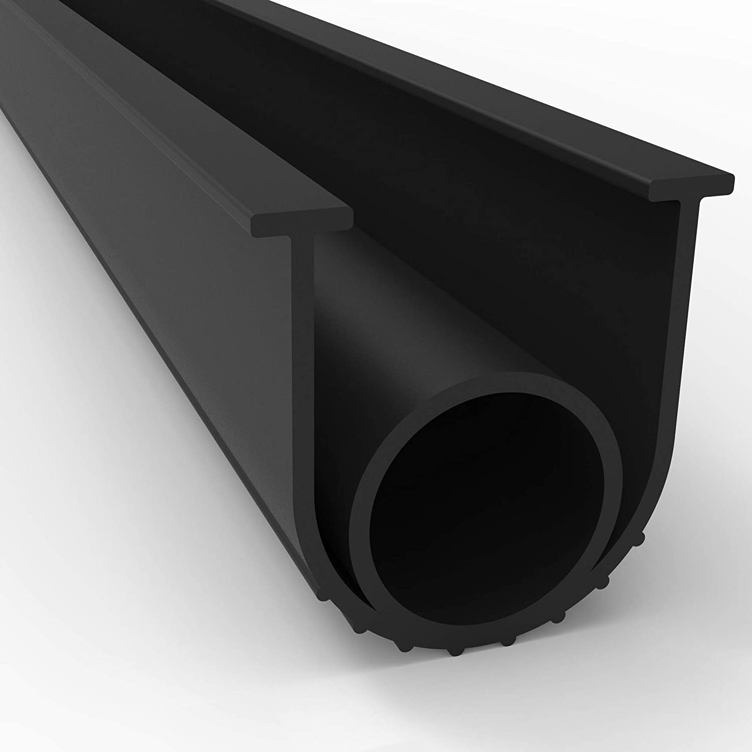 "Universal Dense T-Rubber Weatherstrip Extrusion 20 FT 5//16/"" x 3//8/"""
