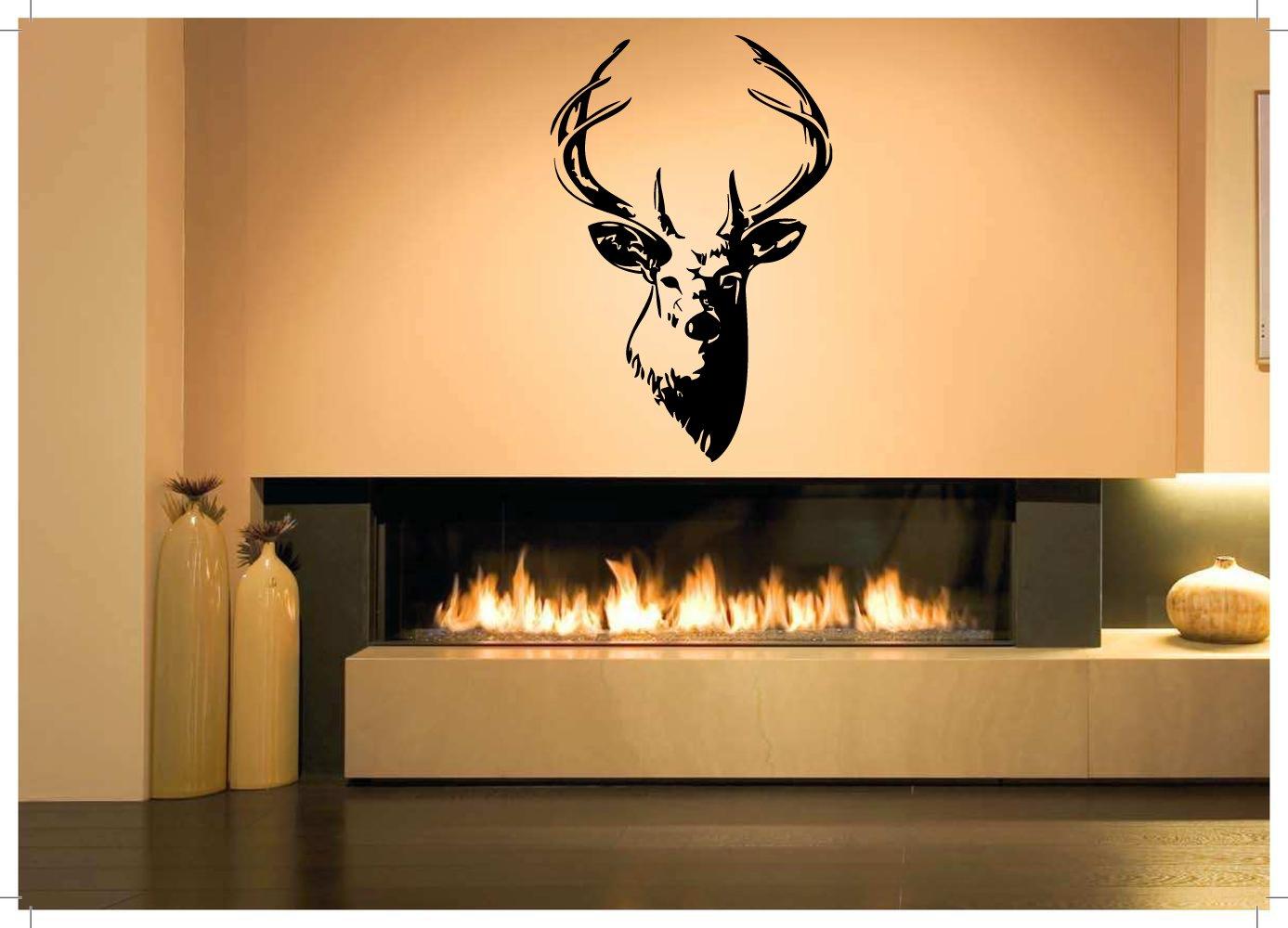 Amazon.com: Wall Room Decor Art Vinyl Decal Sticker Mural Deer Head ...