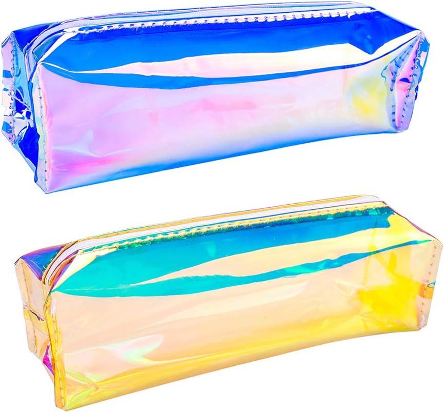 iSuperb Estuche Escolar 2 Piezas Laser Bolsa para Lapices Estudiante Plumier Colegio Color Sólido 20 x 7 x 5 cm (A): Amazon.es: Oficina y papelería