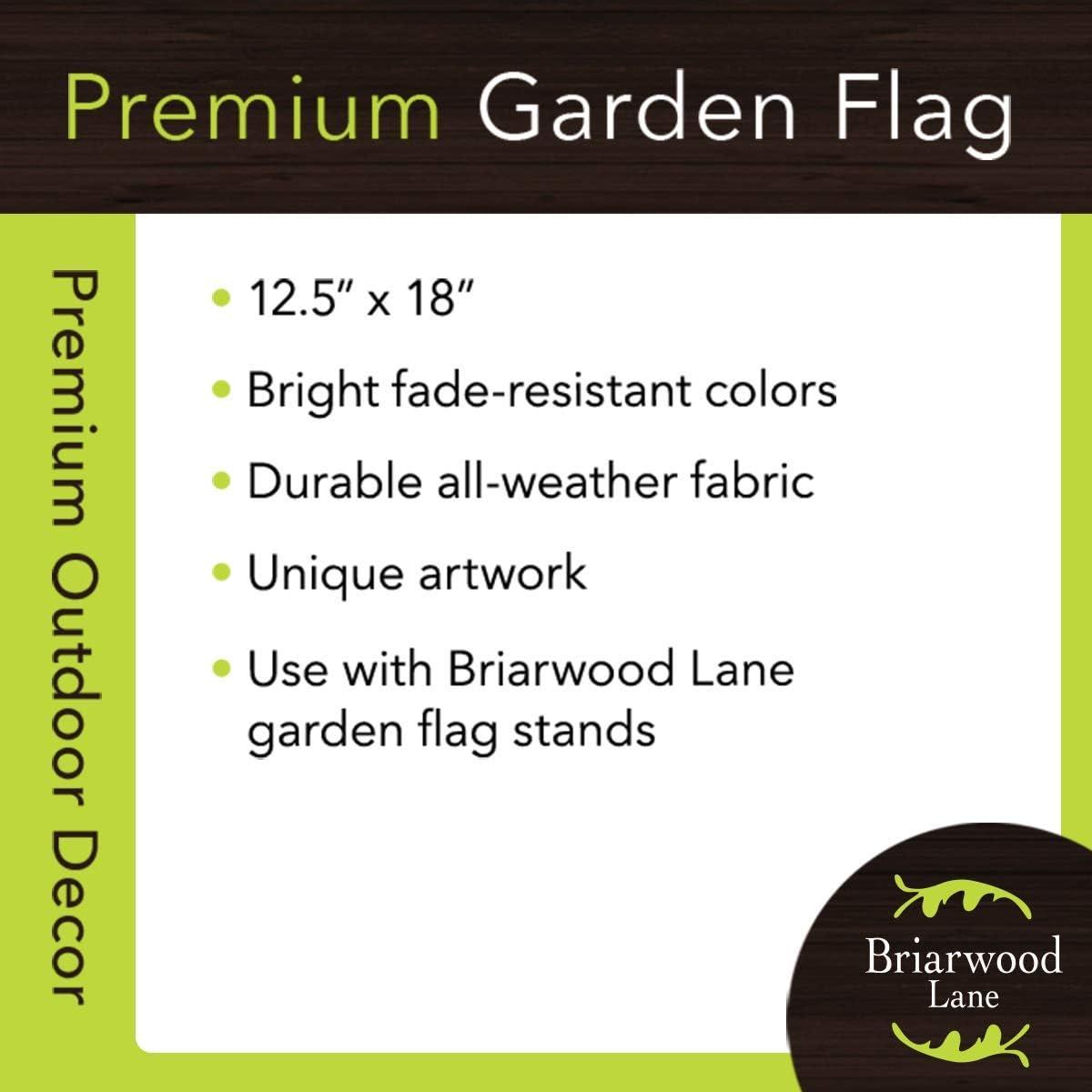 Briarwood Lane Zinnias Spring Garden Flag Floral Bucket 12.5 x 18