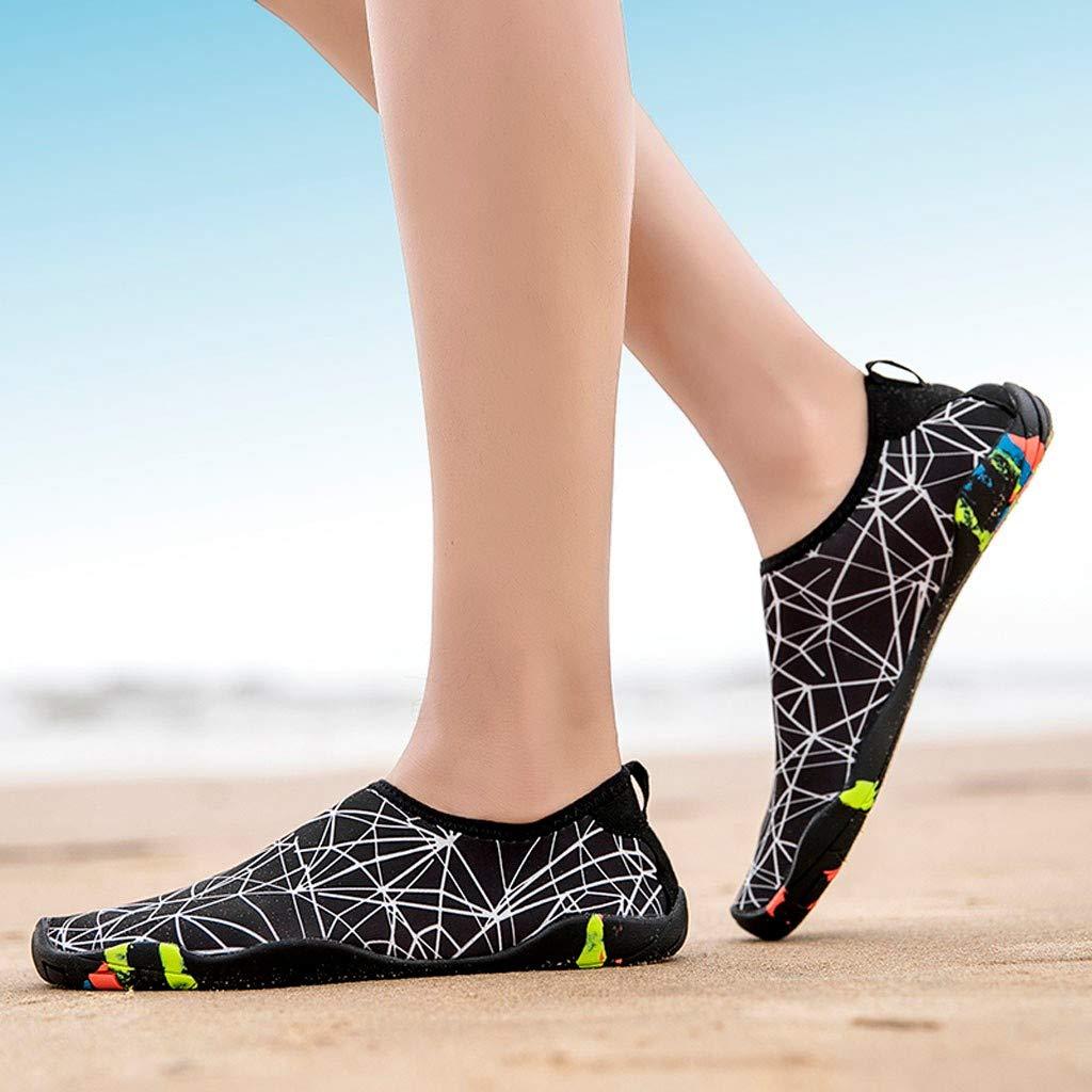 FRAUIT Zapatos de Playa Pareja de Verano Zapatos de Natacion Zapatos para Correr Zapatos de Jardineria Zapatos de Agua Zapatos descalzos de Secado R/ápido para El Agua