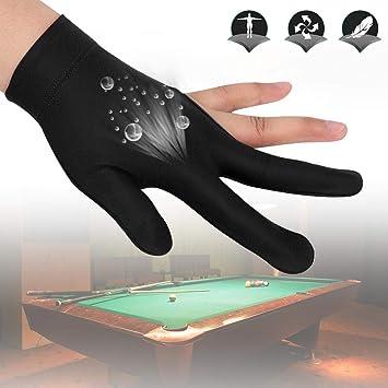 Alomejor Billiard Shooters Guantes Lef Hand 3 Finger Guantes para ...