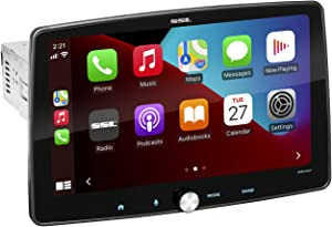 Sound Storm Laboratories SDML9ACP Apple CarPlay Android Auto Car Multimedia Player – Single Din Chassis with 9 Inch Capacitive Touchscreen, Bluetooth, No DVD, High Resolution FLAC, RGB Illumination