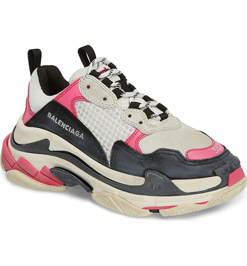 18ccded6b TOPSHOD Unisex Mens Womens Balenciaga Triple S Sneakers Pink Beige Black:  Amazon.co.uk: Shoes & Bags