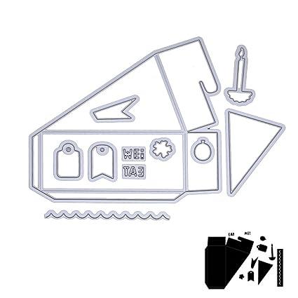 dairyshop adornos navideños Cutting Dies caja metal caja corte Moldes relleno Stampe Scrapbooking Álbum papel artesanal