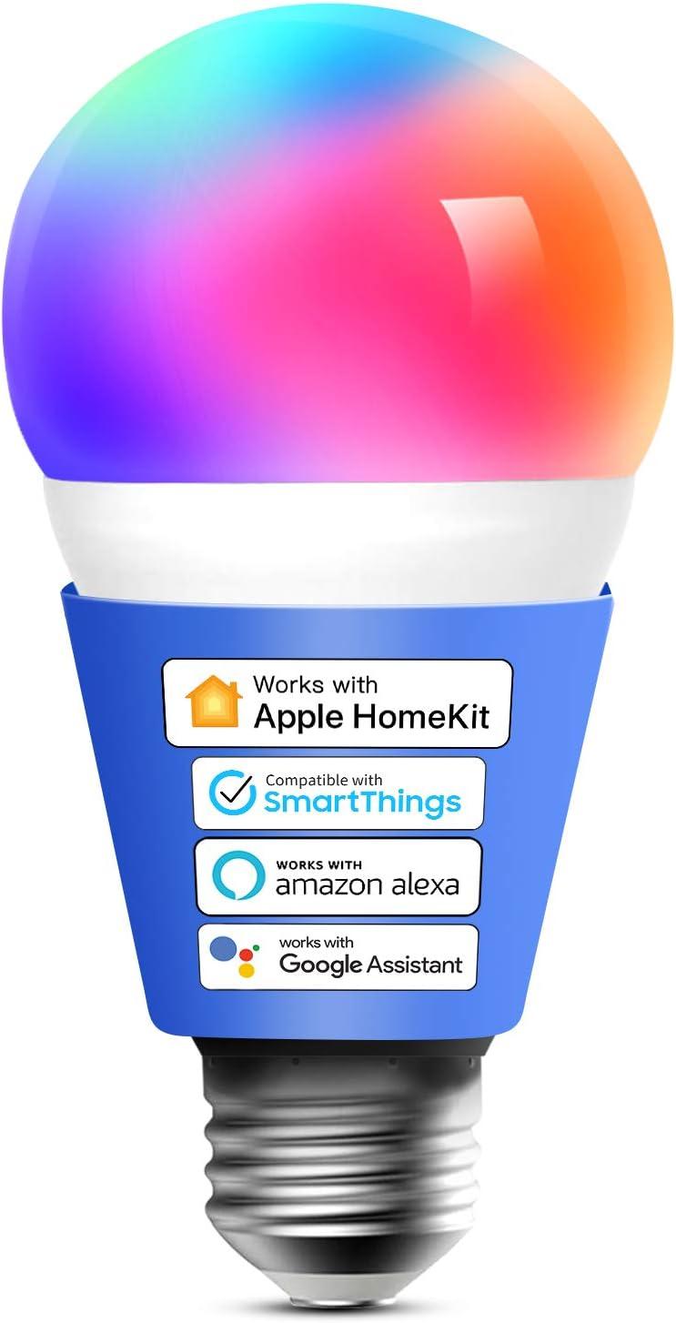 Ampoule Connectée HomeKit, LED Ampoule Intelligente Compatible avec Apple HomeKit, Siri, Alexa,...