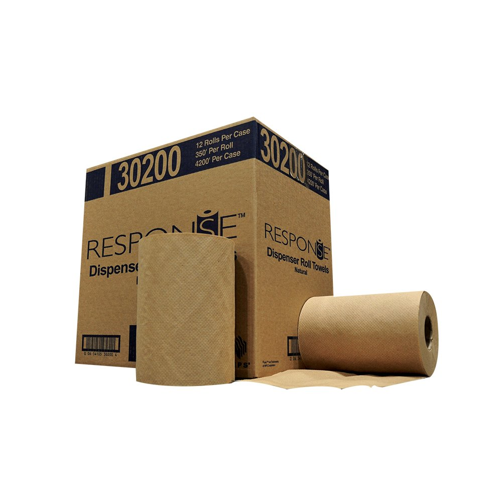 Response 30200 22# Dispenser Hardwound Roll Towel, 350' Length x 8'' Width, Natural (Case of 12)